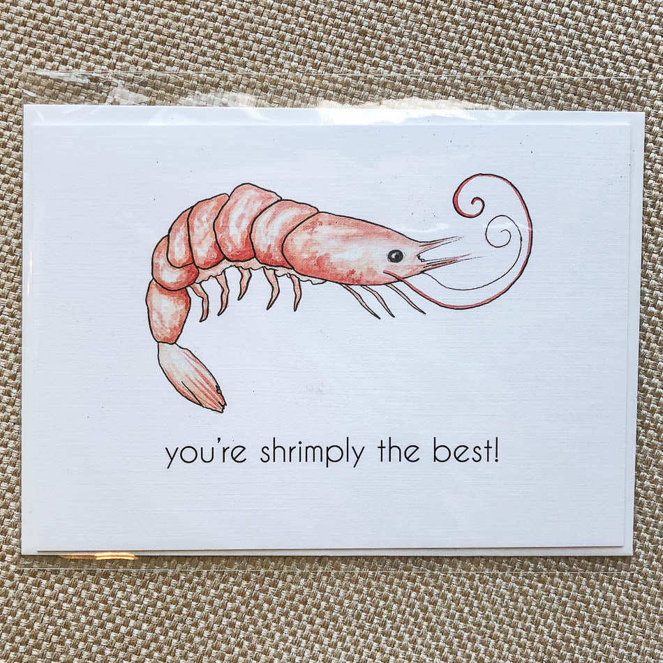 Shrimply the Best card