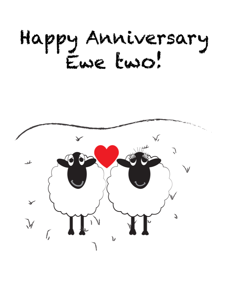 Happy Anniversary Ewe Two!