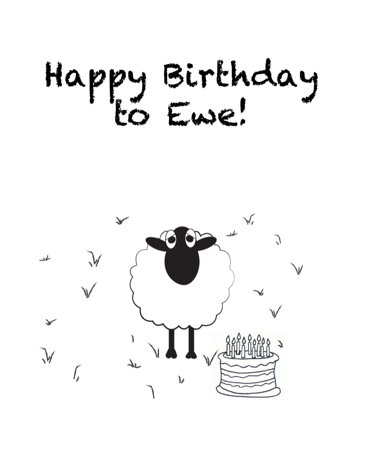 Note Cards - Happy Birthday to Ewe!