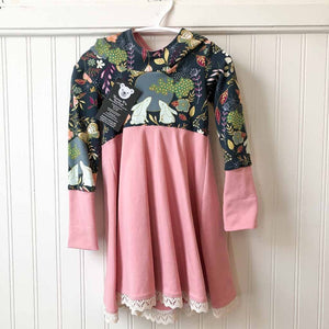 Pink Moon Bunny and Floral Dress 1-3T