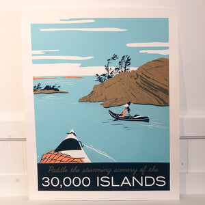 Stephanie Cheng Travel 30,000 Islands Poster