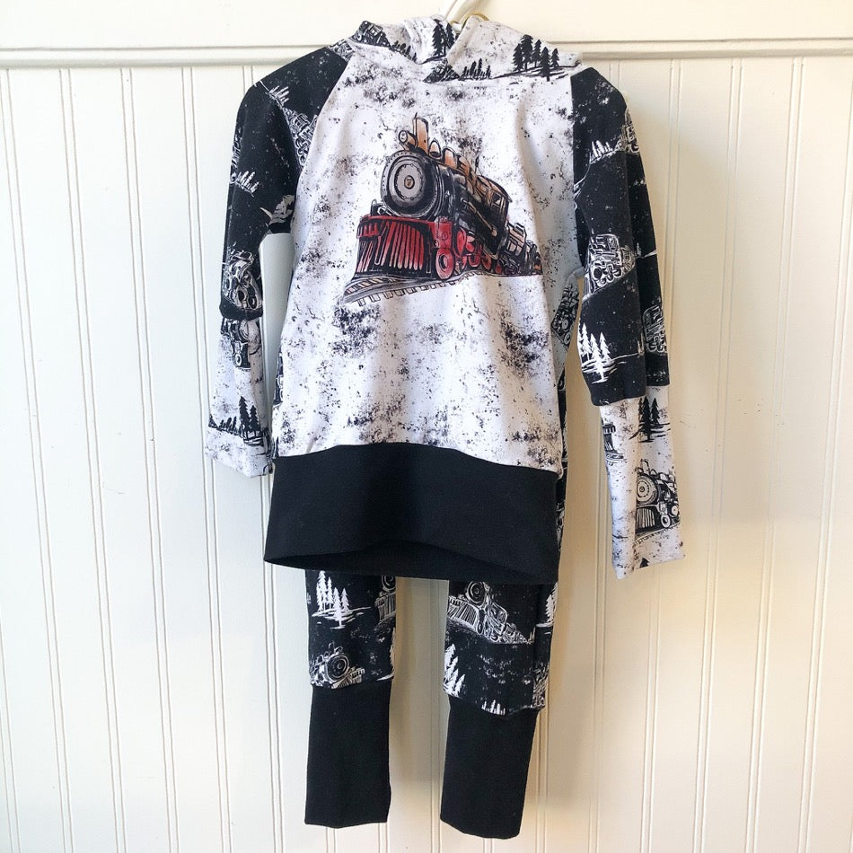 Train Set Hoodie with Matching Pants 1-3T