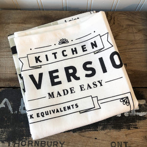 Kitchen Conversion Dishtowel