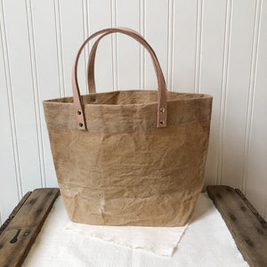 Tiny Waxed Canvas Tote