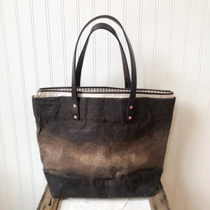Large Waxed Tote Bag with Liner