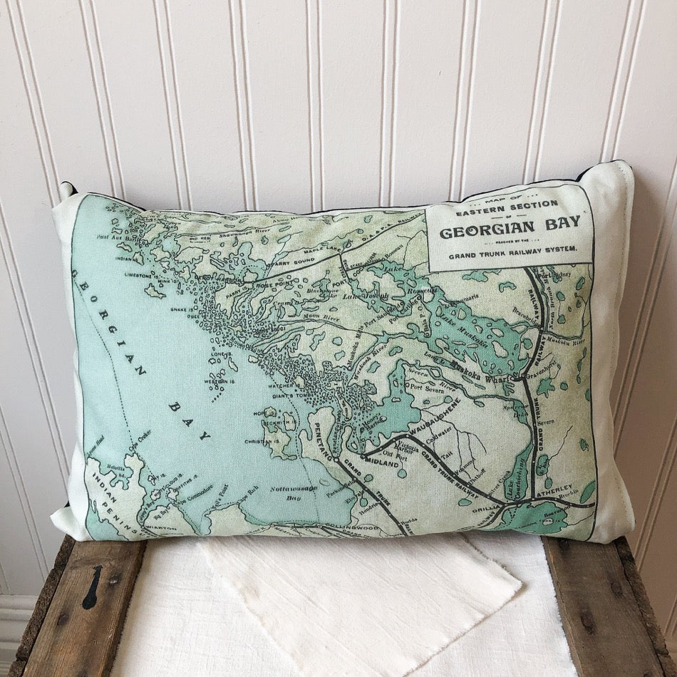 Vintage Georgian Map Pillow