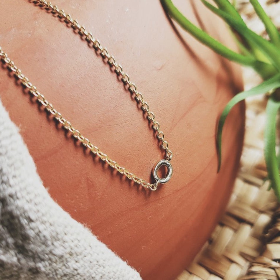 Initial O Necklace
