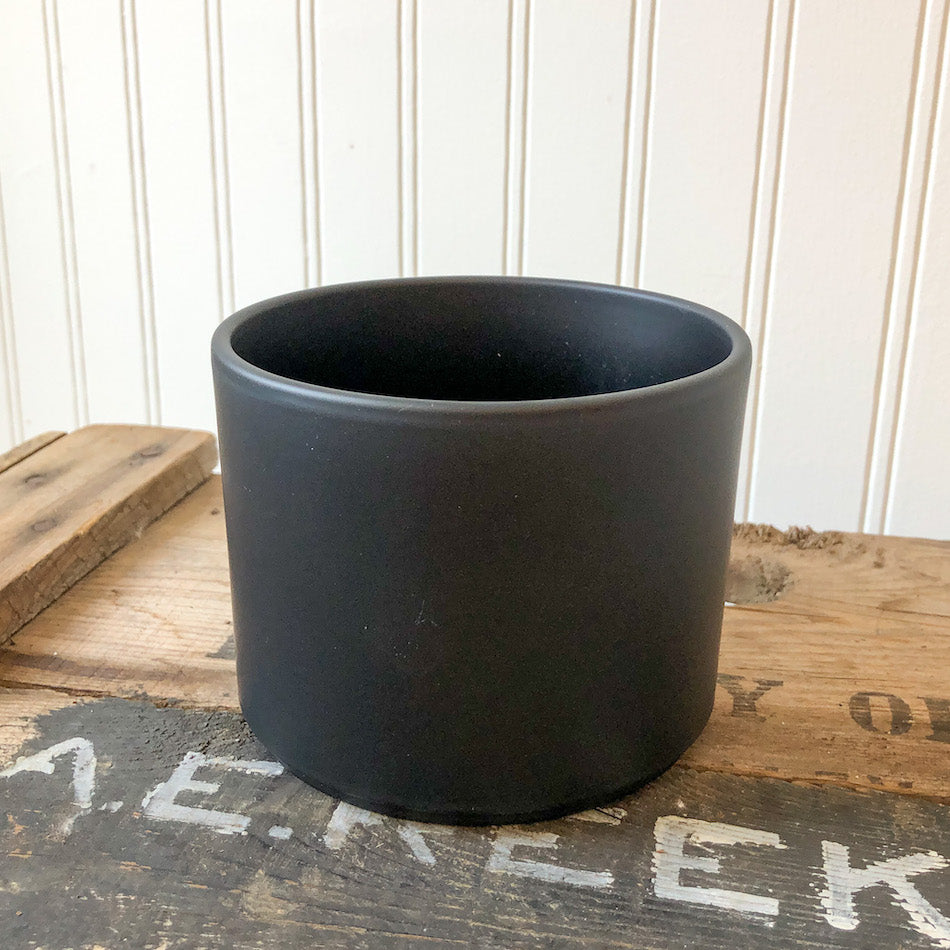 Pillar Pot Matte Black - Small