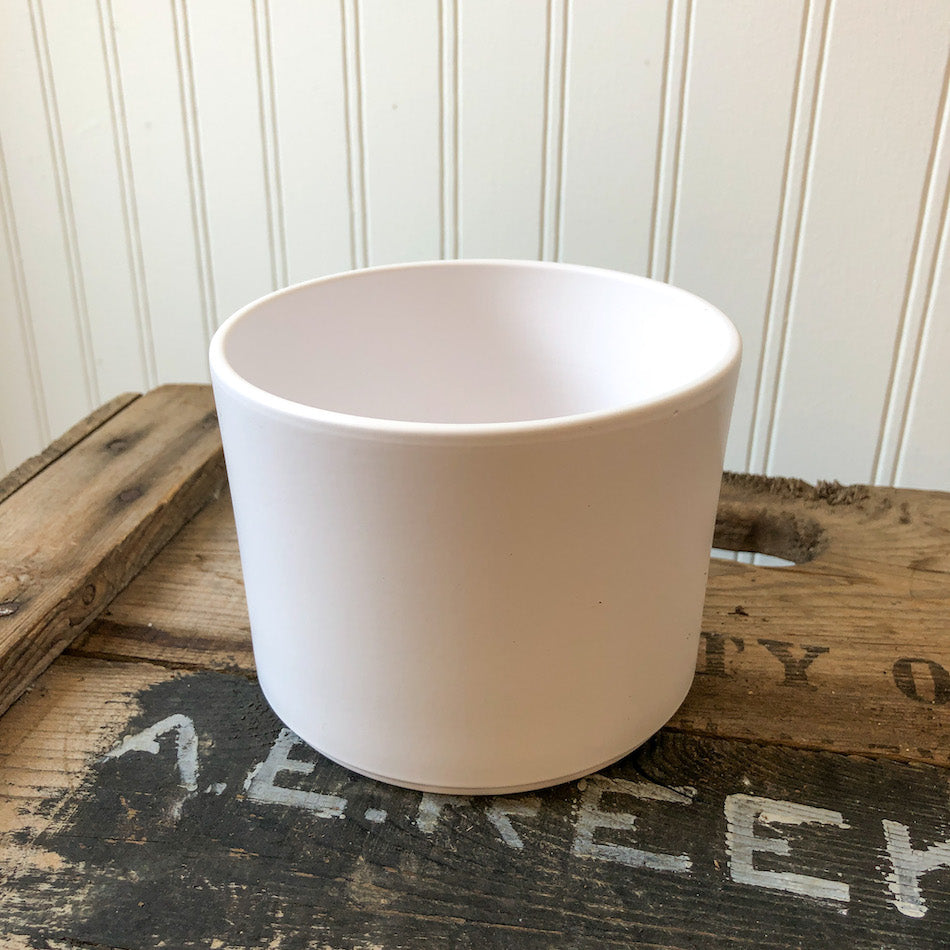 Pillar Pot Matte White - Small