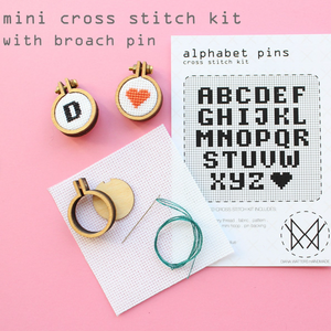 Alphabet Pins Cross Stitch Kit