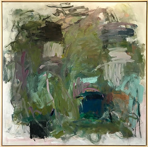 "Noella Noel - Through the Brush - Oil and Canvas framed 48""x48"""