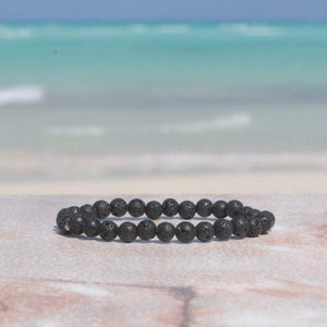 Black Lava Rock 6mm Bracelet