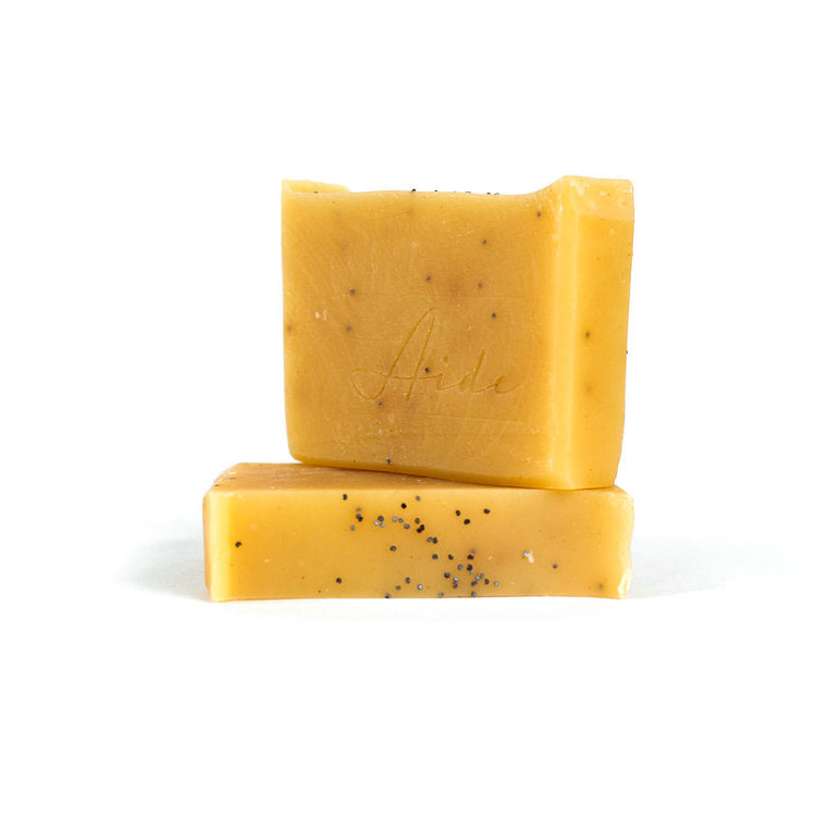 Aide Lemon Poppyseed Soap Cold Process