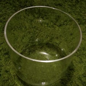 Clear Quartz Crystal Singing Bowl 8 inch