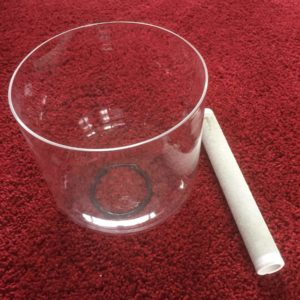 Clear Quartz Crystal Singing Bowl 7 inch
