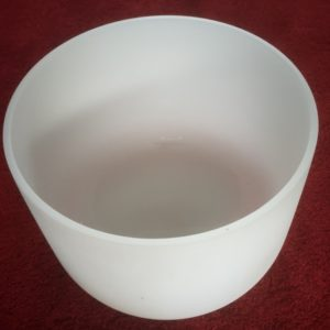 Frosted Quartz Crystal Singing Bowl 14 inch