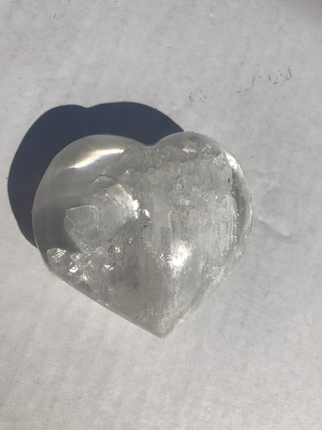 Selenite Small Heart
