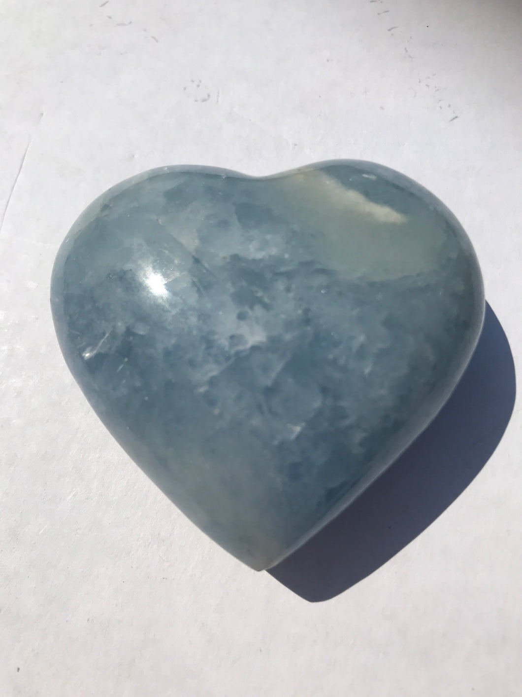 Blue Calcite Heart 2