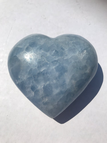 Blue Calcite Heart 1