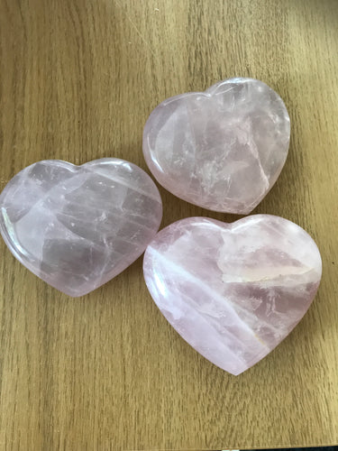Rose Quartz Heart - large (44)
