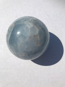 Blue Calcite Sphere 1