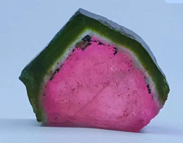 Watermelon Tourmaline Slice - Fab Colour