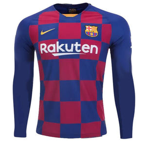 Barcelona Football Jersey Home FULL SLEEVE 19 20 Season[Customization Available]
