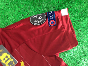 Liverpool SALAH 11 Football Jersey Home With UCL Patch 19 20 Season