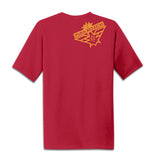 """Reoriented"" Red Moisture Wicking T-Shirt"