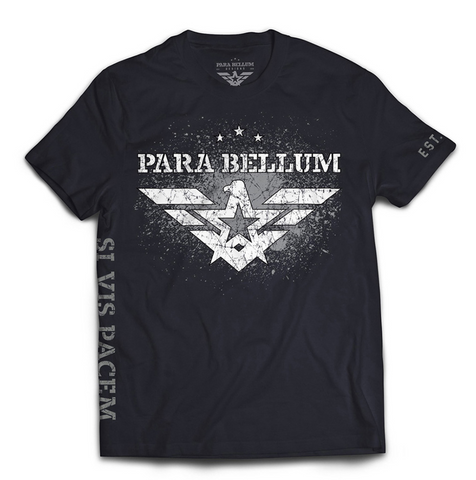 Si Vis Pacem Grey on Black T-Shirt
