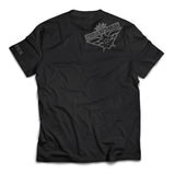 """Si Vis Pacem"" Grey on Black T-Shirt"