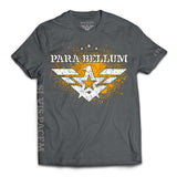 """Si Vis Pacem"" Gold on Gray T-Shirt"