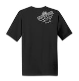 """Reoriented"" Black Moisture Wicking T-Shirt"