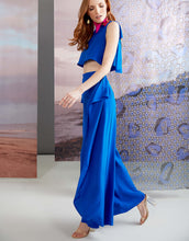 Load image into Gallery viewer, Blue Abigail Ann Palazzo Pants 3