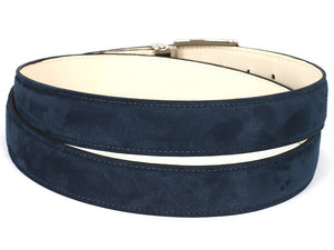 PAUL PARKMAN Men's Navy Suede Belt (ID#B06-NAVY)