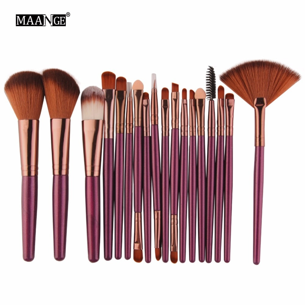 MAANGE 6/15/18Pcs Makeup Brushes Tool Set Cosmetic Powder Eye Shadow Foundation Blush Blending Beauty Make Up Brush Maquiagem