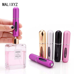 5ml Portable Mini Refillable Perfume Bottle With Spray Scent Pump Empty Cosmetic Containers Spray Atomizer Bottle For Travel New