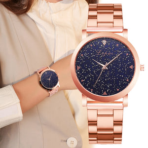 Women Dress Watches Rose Gold Stainless Steel Lvpai Brand Fashion Ladies Wristwatch Creative Quartz Clock Cheap Luxury Watches
