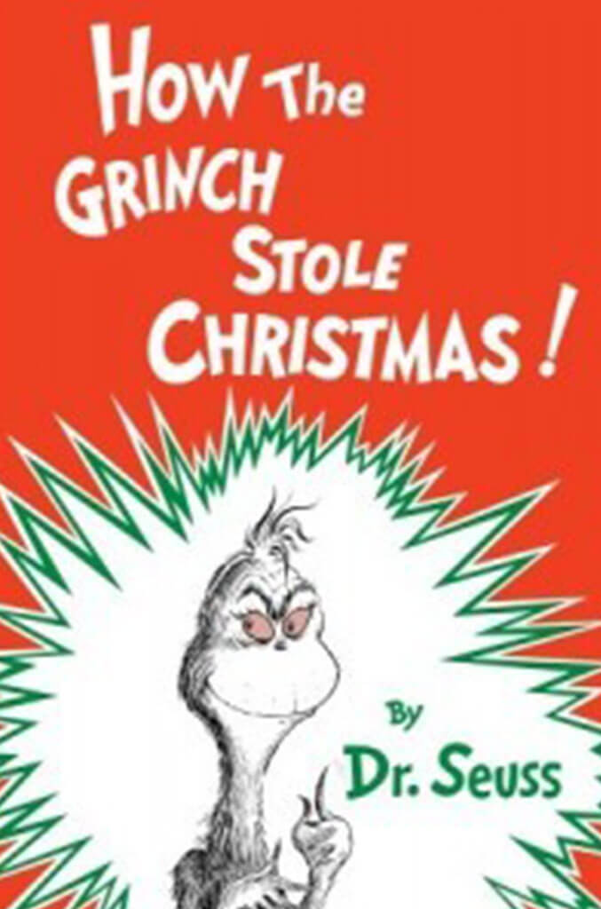 how the grinch stole christmas by dr seuss book cover for children