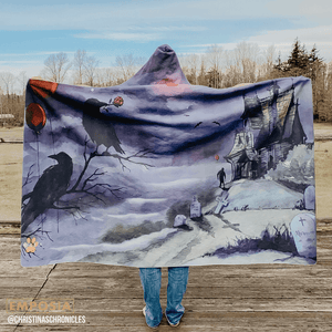 Haunted Hooded Blanket