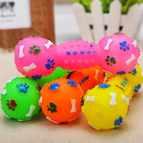 Colorful Pet chews Dumbbell Pet Toys