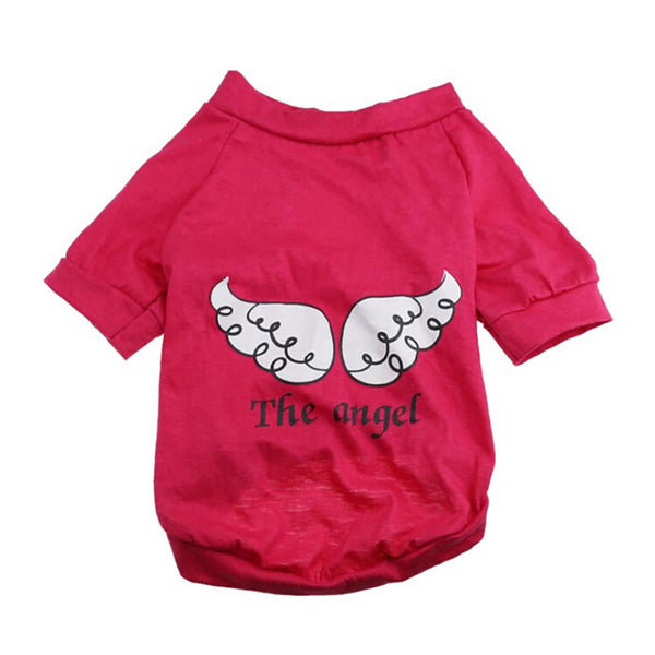 Dog Pet Spring Summer The Angel Vest Sleeveless T-Shirts Clothes