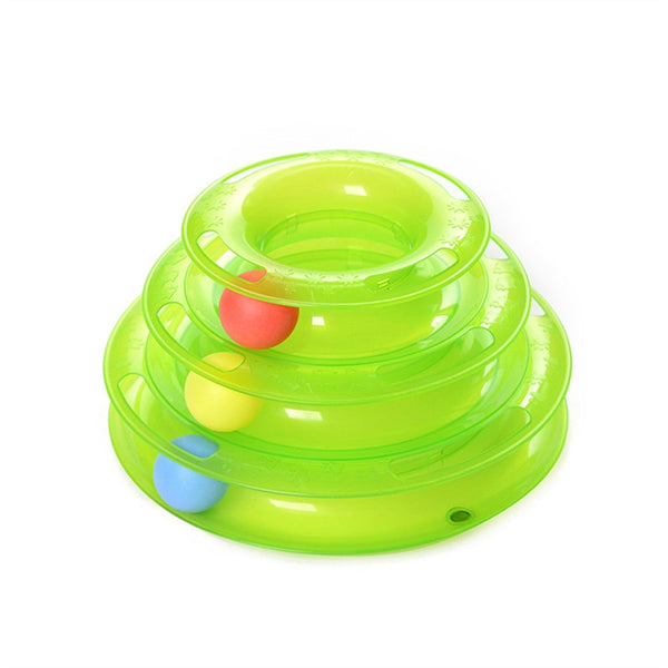 Cat Three Layers Intelligence Crazy Play Ball Toy