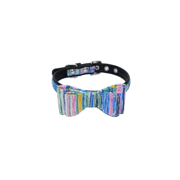 Dog Cat Collar with bow tie