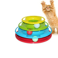 High Quality Turntable Cat Toy Funny Crazy Ball