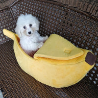 Pet Cat Dog Sofas Bed Banana Shape Dog House Cute Pet Kennel Nest Warm Dog Cat Sleeping Beds House