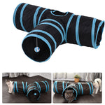 Collapsible 3 Way Cat Tunnel Tube Toy