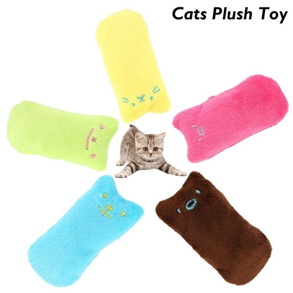 Cute Pet Cats Plush Toys Interactive Fancy Pets Teeth Grinding Catnip Toys Thumb Chew Toys Cat Mint