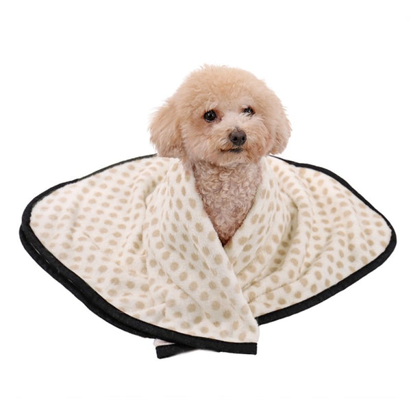 High Quality Soft Flannel Pet Blanket Printed Breathable Bed Mat