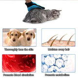 Shedding  Pet Grooming Gloves Double-Side Efficient Furniture Hair Remover!
